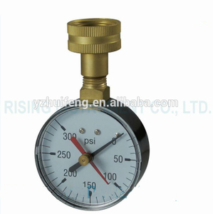 HF 0-300psi Double Pointers Recording Test Water NPT Female Pressure Gauge