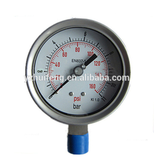 HF 0-11bar/psi Compound KL 1.0 All Stainless Steel 100mm Pressure Gauge