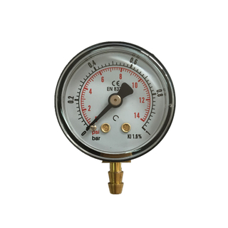 "1"" 1.5"" 40mm black plastic vacuum 0-1bar tube stub medical air manometer pressure gauge"