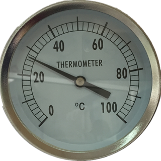 HF HF HF High Quality All SS -5-55Celsius Bottom Connection adjustable angle Bimetal Temperature Bimetallic Thermometers