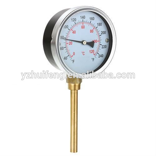 HF High Quality Hot Water 40-240F/C Bottom Connection Temperature Pressure Gauge