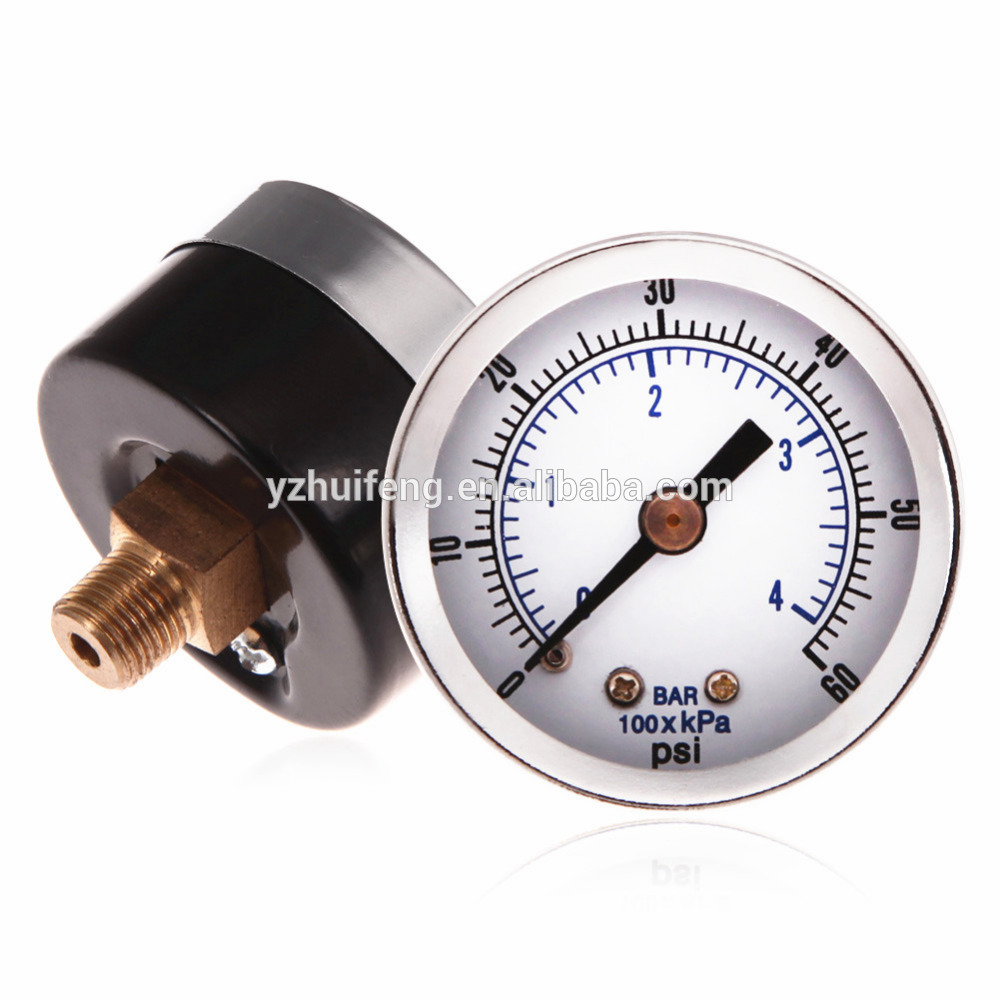 "HF 1/8"" NPT Mini Pressure Gauge 0-60PSI/4BAR Air Compressor Hydraulic Vacuum Gauge Manometer 1.5"" Pressure Tester"