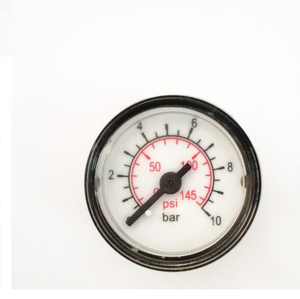 HF 10 bar back connection mini air pressure gauge