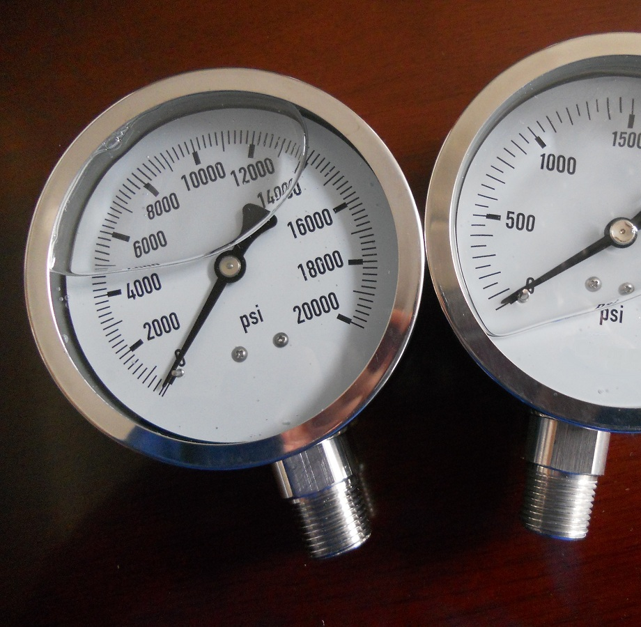HF high precision stainless steel air gas water hydraulic oil bourdon tube pressure gauge