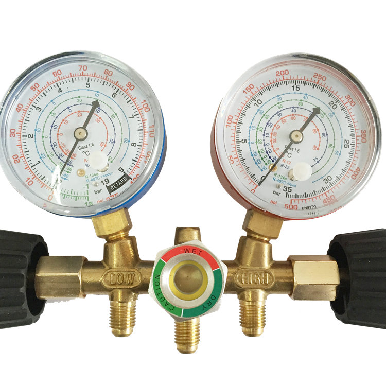 HF R410A,R22,R404A,Diagnostic Manifold Gauge Set for Freon Charging