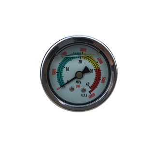 "HF 1.5""Panel type Stainless steel oil liquid filled moon light pressure test gauge of Bar / PSI / Mpa of Bar, PSI, Mpa"