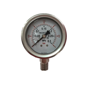 "HF1.5"" 40mm all stainless steel liquid oil filled laser welding pressure gauge"